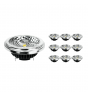 Multipack 10x Noxion Lucent LED Spot AR111 G53 Pro 12V 12W 927 40D| Highest Colour Rendering - Dimmable - Replacer for 50W