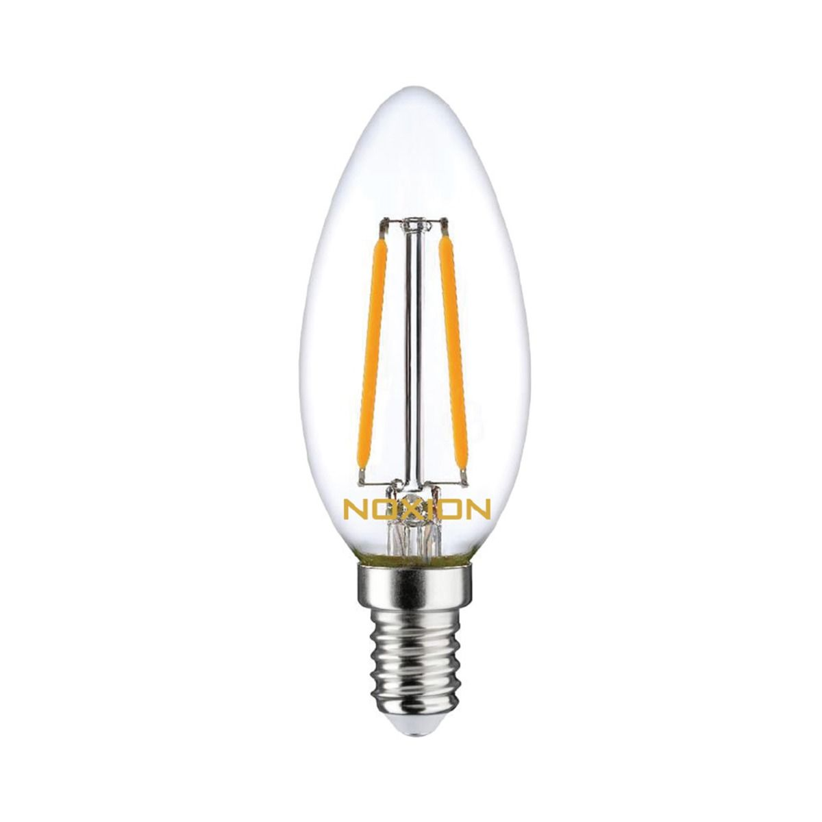 Noxion Lucent Filament LED Candle 2.5W 827 B35 E14 Clear   Replacer for 25W