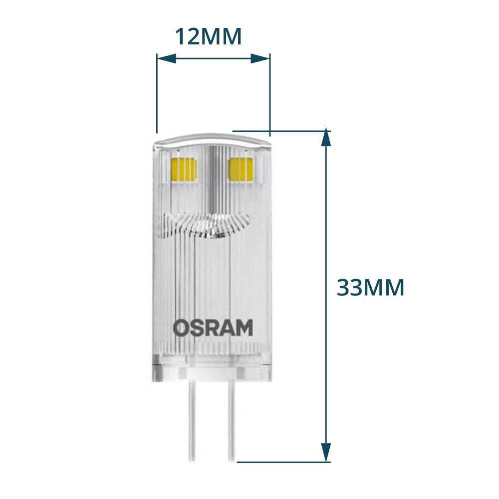 Osram Parathom Pin G4 0.9W 827 Clear | Replaces 10W