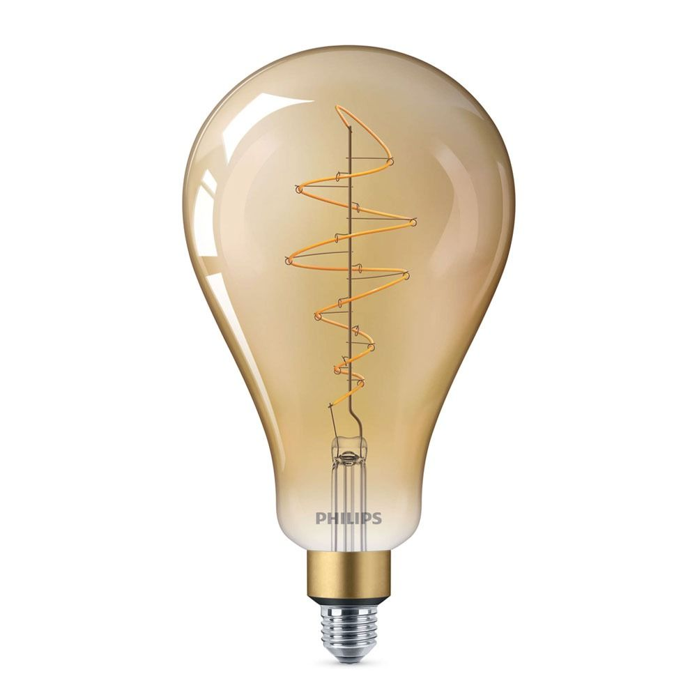 Philips Classic LED Giant Vintage E27 A160 6.5W 820 Gold | Dimmable - Replaces 40W