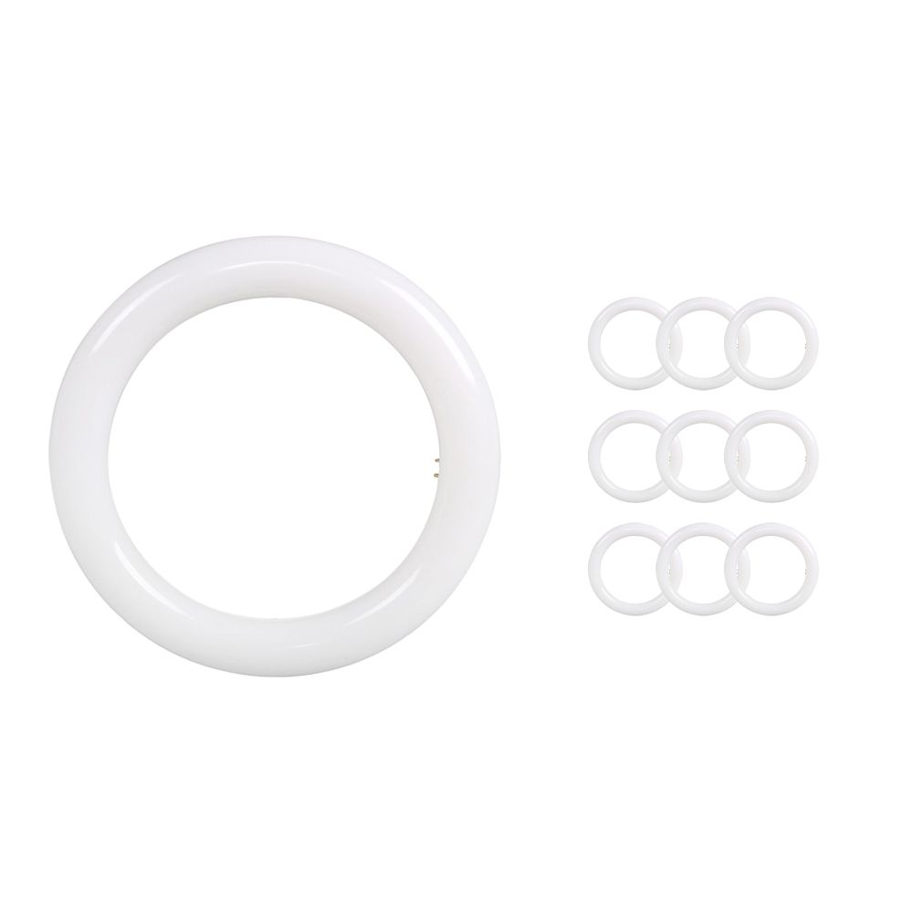 Multipack 10x Noxion Avant LED T9 Tube Circular EM/MAINS 12W 830 | Replacer for 22W