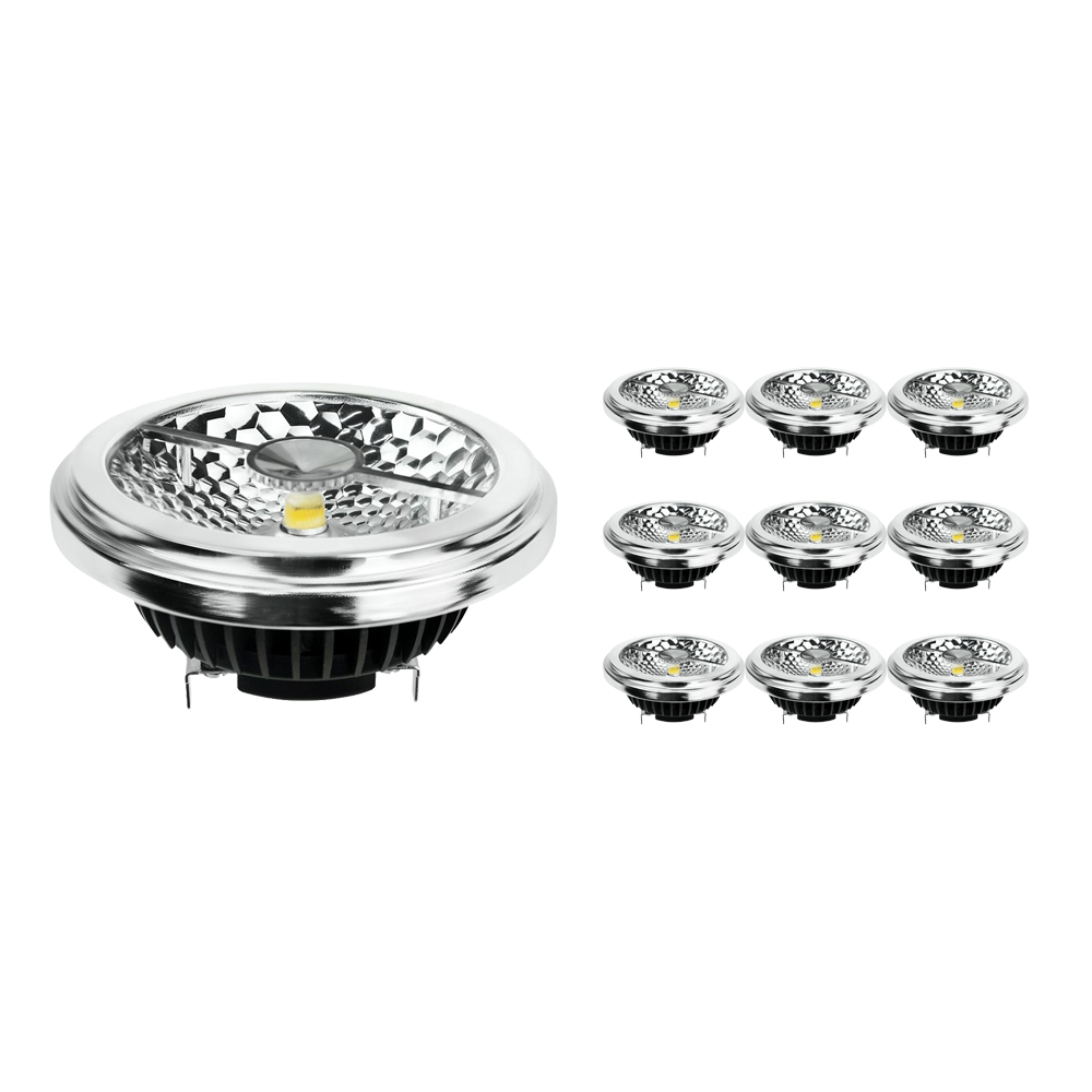 Multipack 10x Noxion Lucent LED Spot AR111 G53 Pro 12V 12W 930 40D  Highest Colour Rendering - Dimmable - Replacer for 50W