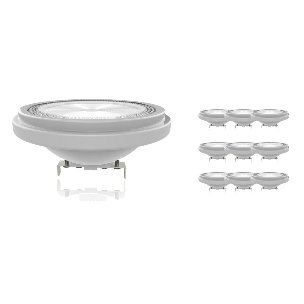 Multipack 10x Noxion Lucent LED Spot AR111 G53 12V 11.5W 930 40D | Dimmable - Highest Colour Rendering - Replacer for 75W