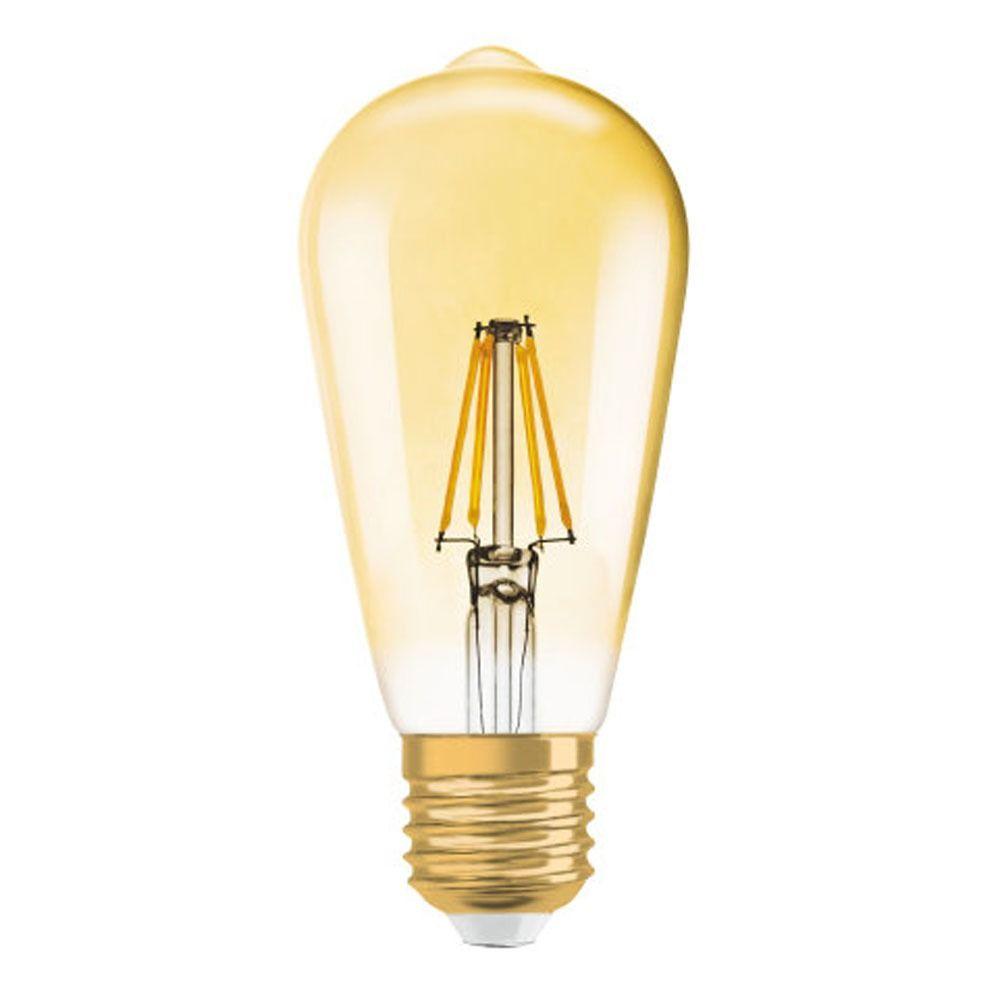 Osram Vintage 1906 LED E27 Edison 4W 825 Gold   Replaces 35W