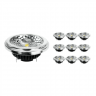 Multipack 10x Noxion Lucent LED Spot AR111 G53 Pro 12V 12W 930 40D| Highest Colour Rendering - Dimmable - Replacer for 50W