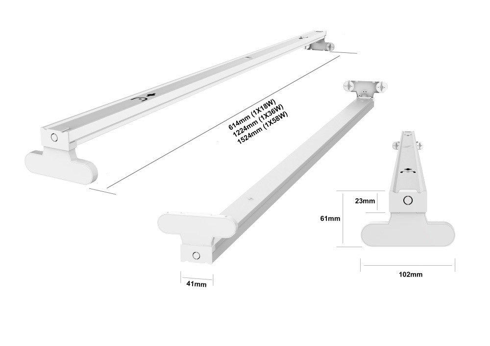 Noxion LED T8 Batten Click 1x58W 150cm