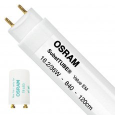 Osram SubstiTUBE Value EM 16.2 840 120cm | Replaces 36W