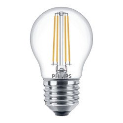 Philips Classic LEDlustre E27 P45 5W 827 Clear   Dimmable - Replaces 40W